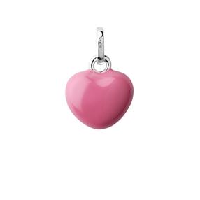Sterling Silver & Pink Enamel Mini Heart Charm-