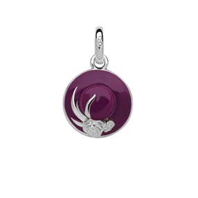 Ascot Sterling Silver Lady Hat Charm-