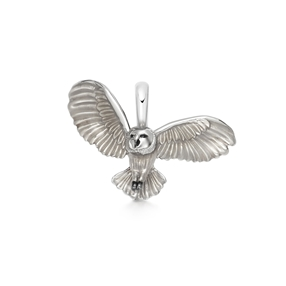 Barn Owl Charm από ασήμι και σμάλτο-