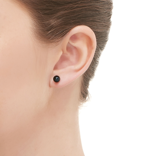 Effervescence Ασημένια σκουλαρίκια με γκρι μαργαριτάρια-