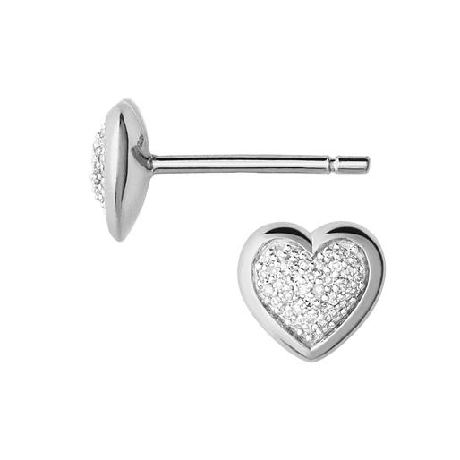 Diamond Essentials ασημένια σκουλαρίκια-