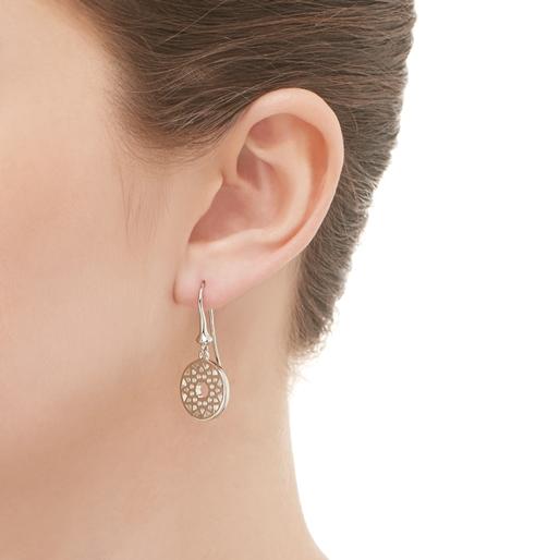 Timeless Ασημένια κρεμαστά σκουλαρίκια-