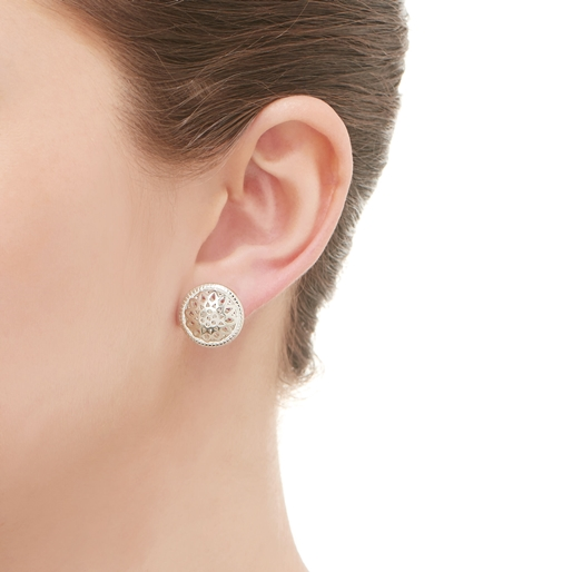 Timeless Ασημένια σκουλαρίκια-