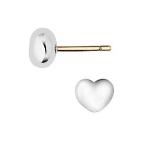 Essentials Sterling Silver Heart Baby Stud Earrings-