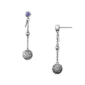 Effervescence Bubble Sterling Silver Drop Earrings-