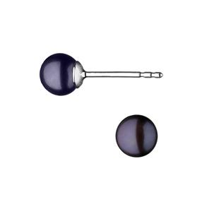 Effervescence Sterling Silver & Grey Pearl Stud Earrings-