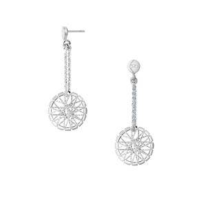Dream Catcher Sterling Silver Drop Earrings-