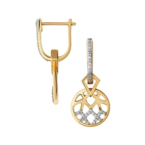 Timeless 18kt Gold & Diamond Drop Earrings-