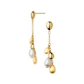 Hope 18kt Yellow Gold & Pearl Drop Earrings-