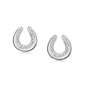 Ascot Diamond Essentials Ασημένια σκουλαρίκια με διαμάντια-