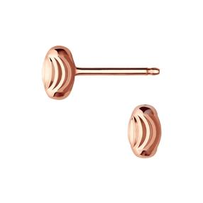 Essentials 18kt Rose Gold Vermeil Beaded Stud Earrings-