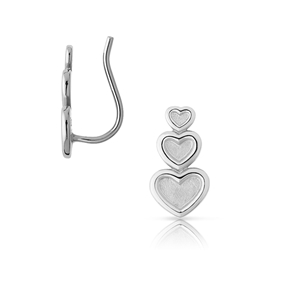 Endless Love sterling silver climber earring-