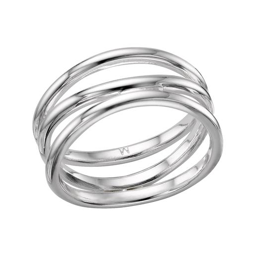 Essentials δαχτυλίδι από ασήμι με τρείς βέρες-