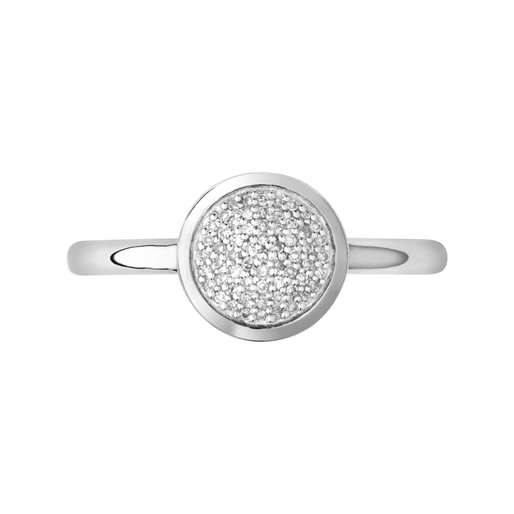 Diamond Essentials Ασημένιο δαχτυλίδι με διαμάντια-