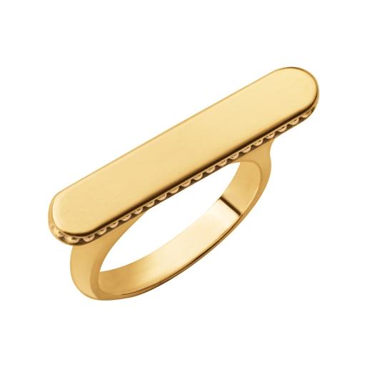 Narrative Ασημένιο Δαχτυλίδι με επιχρύσωση 18 καρατίων-