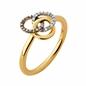 Treasured Δαχτυλίδι από ασήμι με επιχρύσωση 18 καρατίων και διαμάντια-