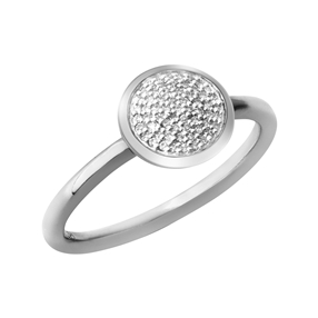 Diamond Essentials Sterling Silver & Pave Round Ring-