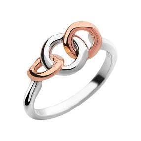 20/20 Δαχτυλίδι απο ασήμι και ροζ χρυσό 18 καρατίων-