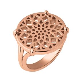 Timeless Ασημένιο δαχτυλίδι με ροζ επιχρύσωση 18 καρατίων-