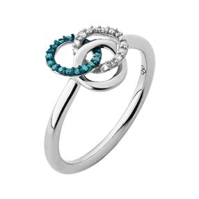 Treasured Δαχτυλίδι από ασήμι και διαμάντια-