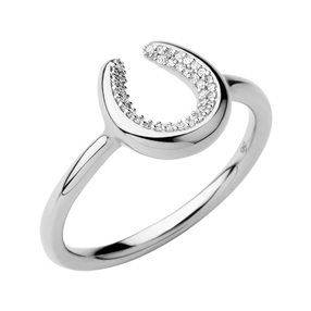 Ascot Ασημένιο δαχτυλίδι με διαμάντια-