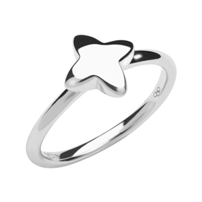 Splendour Sterling Silver Four-Point Star Ring-