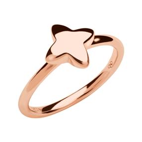 Splendour Ασημένιο Δαχτυλίδι με ροζ επιχρύσωση 18 καρατίων-