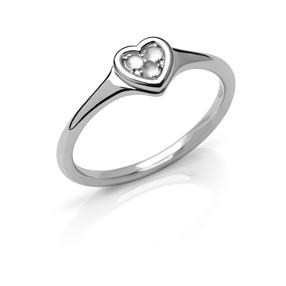 Open Heart Δαχτυλίδι από ασήμι και Moonstones-