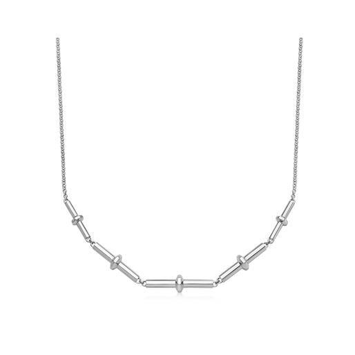 Brutalist sterling silver multi-bar necklace-