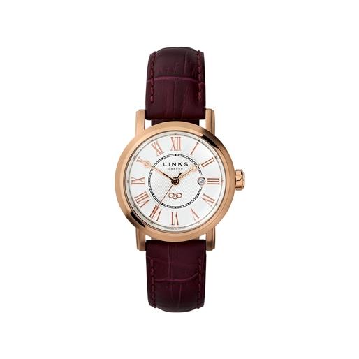 Richmond Γυναικείο ρολόι με επιχρύσωση και μωβ δερμάτινο λουράκι-