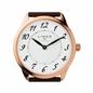 Narrative γυναικείο ρολόι με ροζ επιχρύσωση και μαύρο δερμάτινο λουράκι-