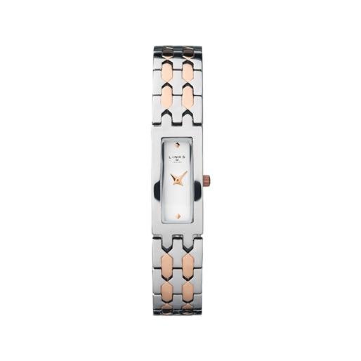 Selene Ατσάλινο Ρολόι με ροζ επιχρύσωση 18 καρατίων-