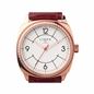 Brompton Womens Rose Gold Plate & Red Leather Watch-