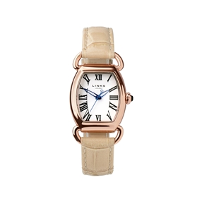 Driver Elipse Womens Rose Gold Plate Tan Leather Watch-