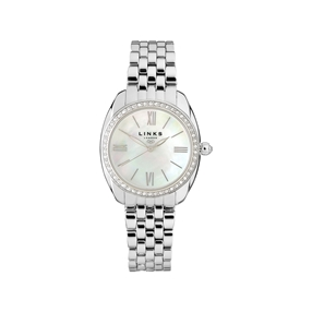 Bloomsbury Γυναικείο Ατσάλινο ρολόι με μπρασελέ και κρυστάλους-