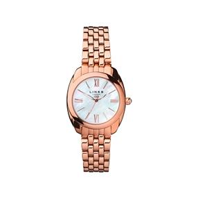 Bloomsbury Γυναικείο ρολόι με ροζ επιχρύσωση, μπρασελέ και φίλντισι-
