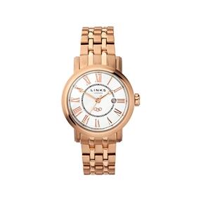 Richmond Womens Rose Gold Plate Bracelet Watch-