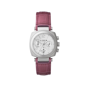 Brompton Womens Pink Leather Watch-