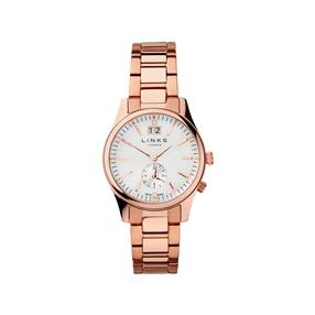 Regent Womens Rose Gold Plate Bracelet Watch-