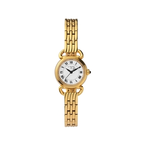 Driver Mini Round Gold Plate Bracelet Watch-