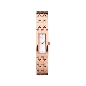 Selene Stainless Steel Rose Gold Tone Watch-