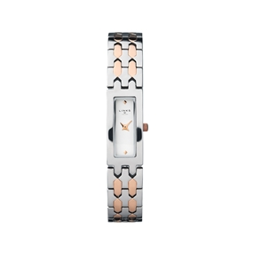 Selene Stainless Steel & Rose Gold Tone Watch-