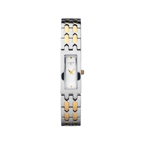 Selene Stainless Steel & Yellow Gold Tone Watch-