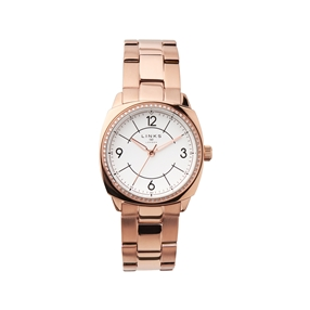 Brompton Womens Rose Gold Plate Bracelet Watch-