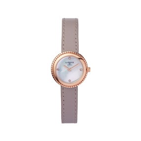 Effervescence Grey Leather & Mother Of Pearl Watch-
