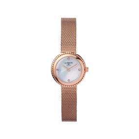 Effervescence Rose Gold Plate & Mother Of Pearl Chain Watch-
