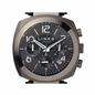 Brompton Ατσάλινο Μαύρο ρολόι με χρονογράφους και μπρασελέ-