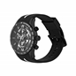 Skeleton Black Rubber Strap Chronograph Watch-