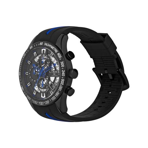 Skeleton ρολόι με χρονογράφους από caoutchouc-