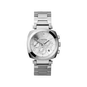 Brompton ανδρικό ρολόι από ατσάλι με χρονογράφους και μπρασελέ-